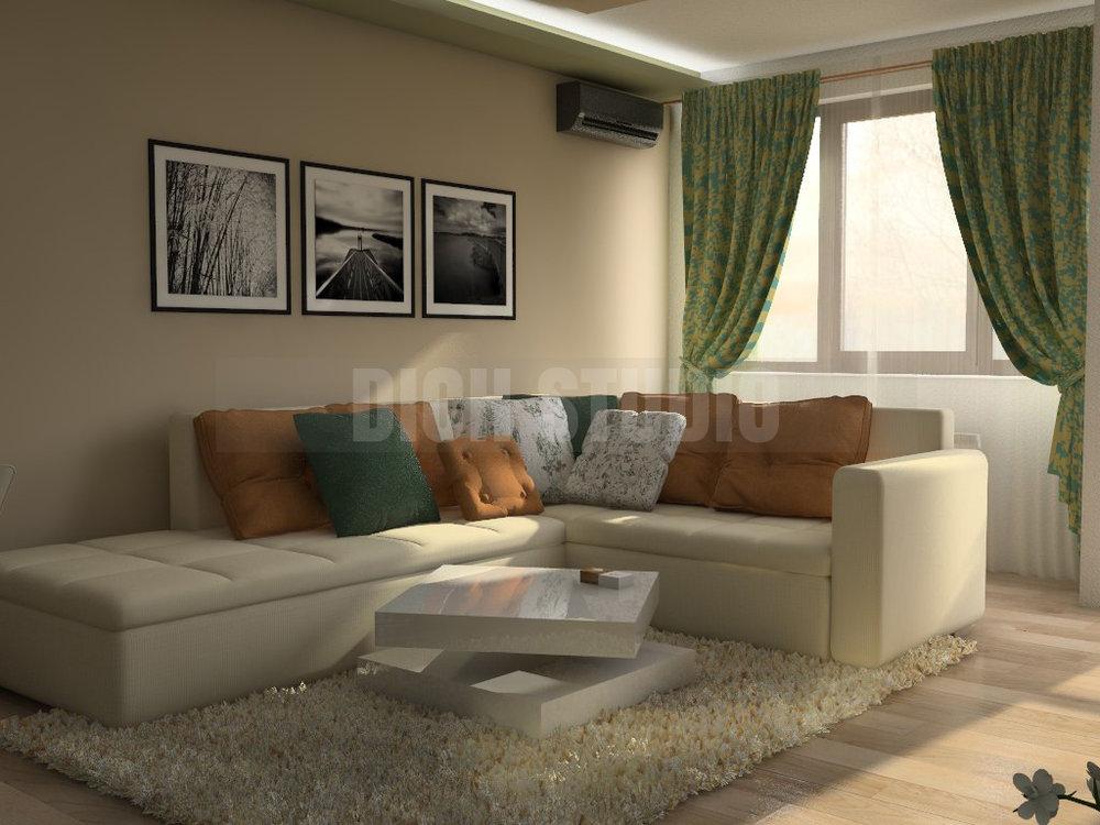Interior living room, Reduta, Sofia