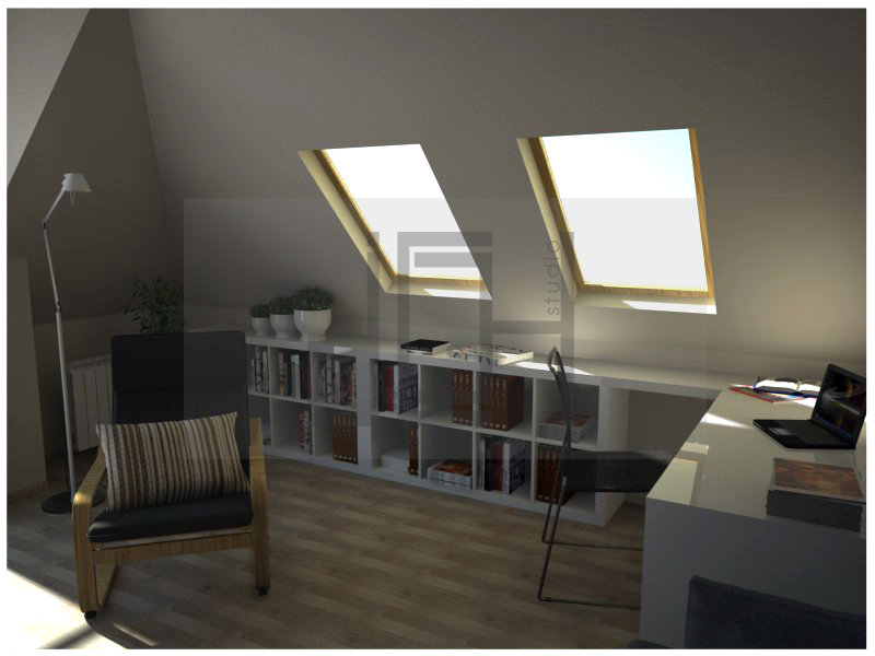 Design working place in apartment, Iztok, Sofia