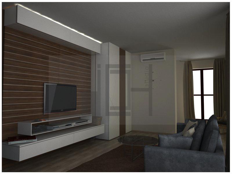 Интериорен проект - дизайн на дневна, Изток, София