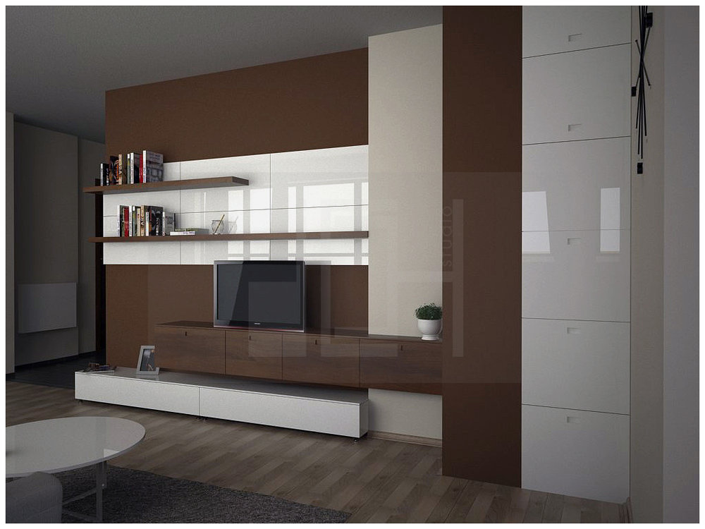 Design tv-set in apartment, Iztok, Sofia
