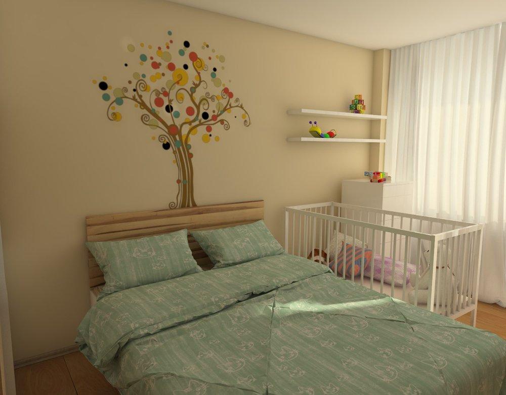 Interior design idea bedroom, Sofia