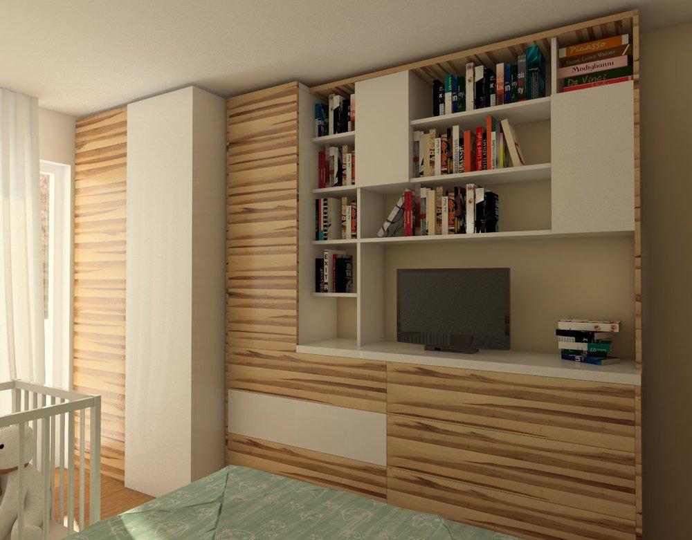 Bedroom interior design, Mladost, Sofia