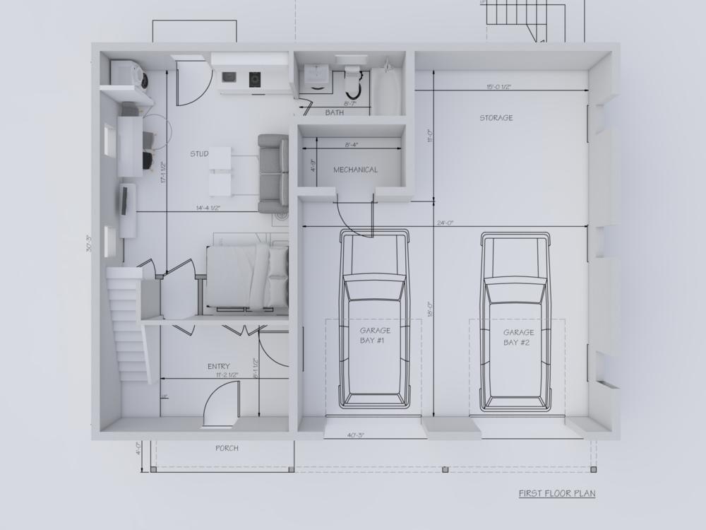 3Д макет на еднофамилна къща