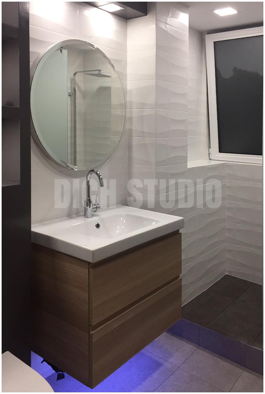 Interior design bathroom in black Vratsa