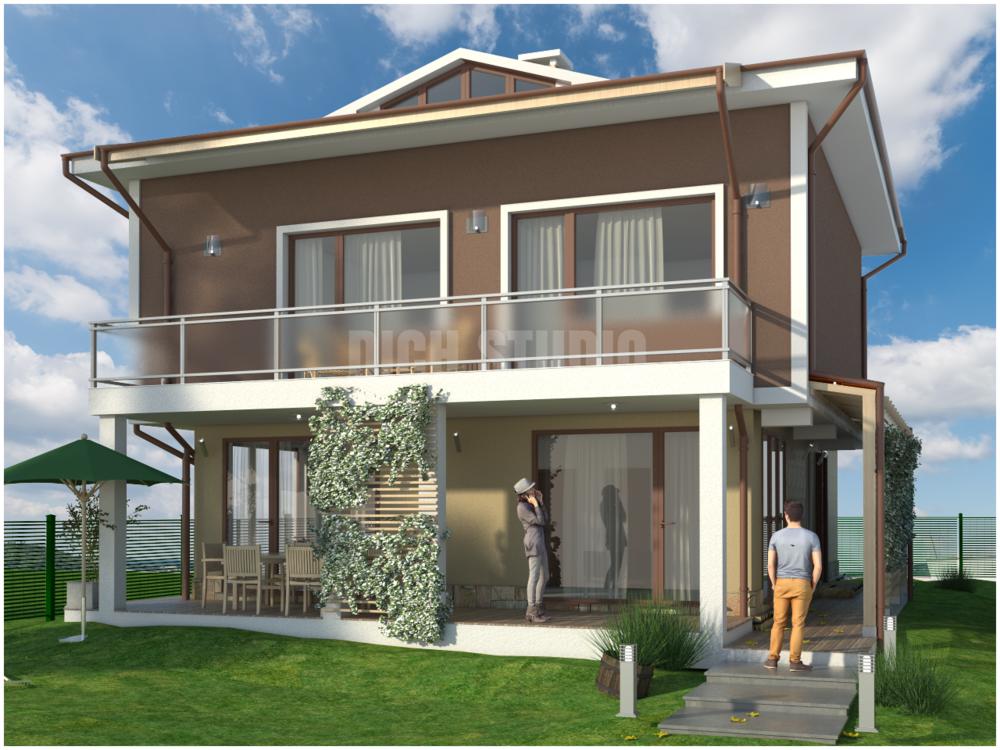 Проект еднофамилна къща - фасада юг, Нови Хан