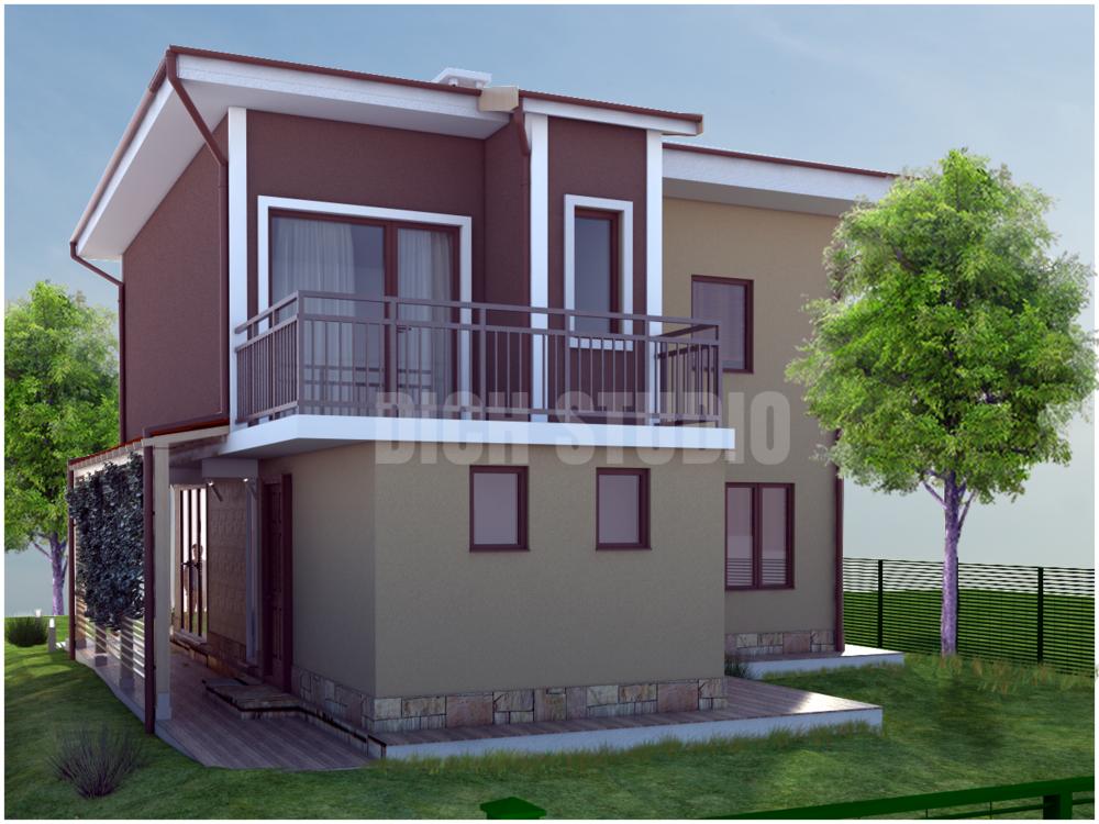 Проект еднофамилна къща - фасада север, Нови Хан