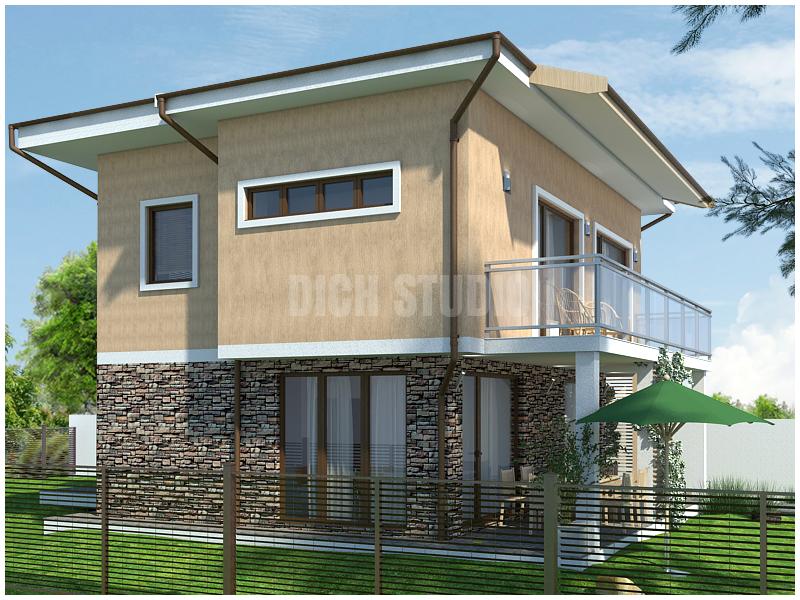 Проектиране на къща - фасада юг, Нови Хан