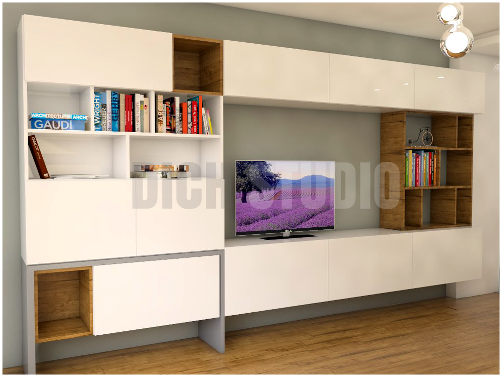 TV set living room interior design Vitosha Sofia