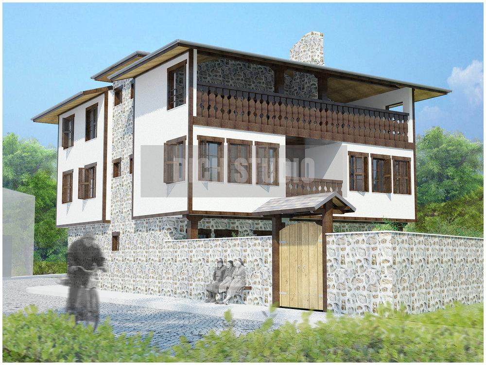 Проект къща за гости - фасада