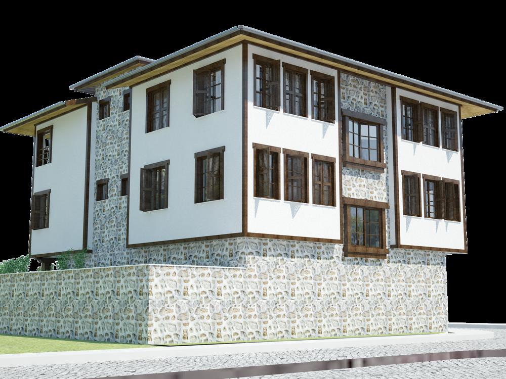 Architectural design - facade guest-house
