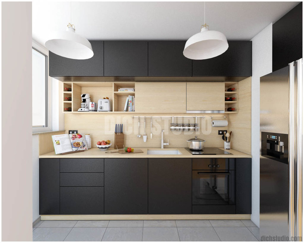 kitchen wood black interior design, Vratsa