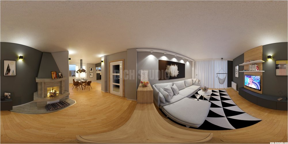 living room interior design panorama, Vratsa