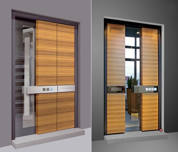 Сигурната - Носител на наградата Red Dot Design, тази врата получава адмирации за подобрената си сигурност и опции за влизане без ключ, както и заради отличителния си стил. Екзотичното дърво, като използваното тук, винаги хващат око.