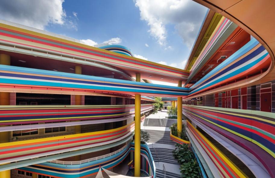 Основно училище Nanyang, проект на Studio505 и LT&T architects, 2015 г. (Сингапур)