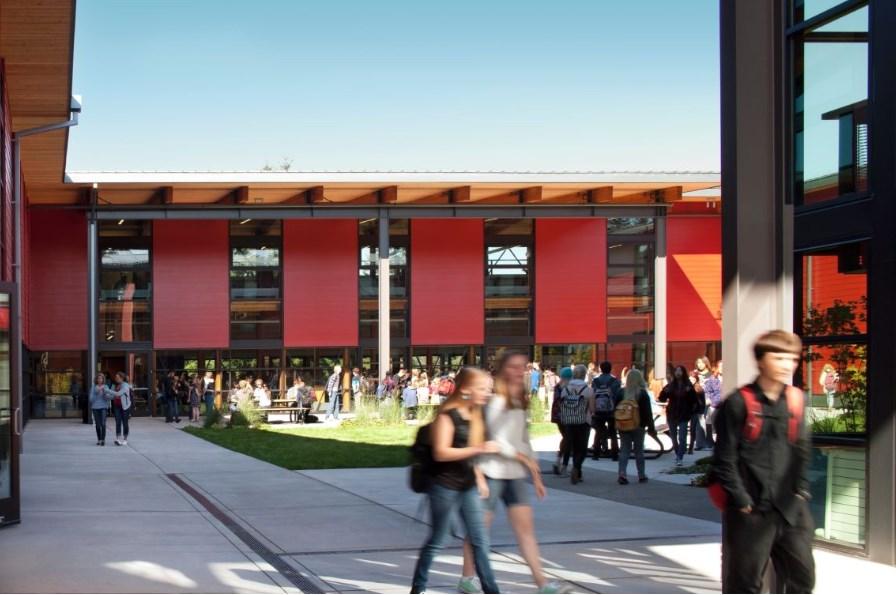 Висше училище Vashon Island, проект на Integrus Architecture, 2014 (Вашон, Вашингтон)
