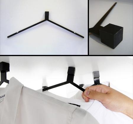 Магнитна - Тези готини и модерни закачалки заменят куката с магнит и вървят в комплект с окачена метална част, която позволява пълна свобода на подреждане и показване на дрехите ви.Дизайн: Daniel