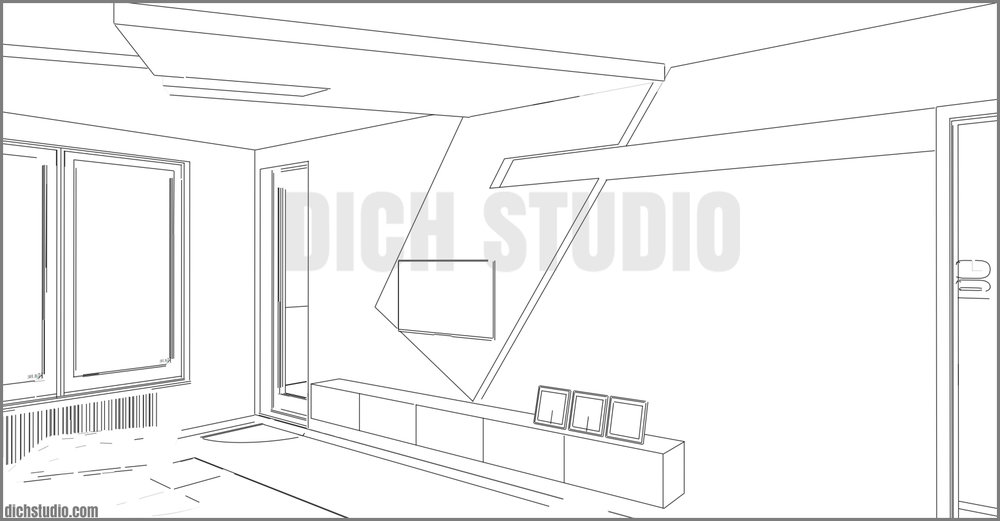 raw image 3d concept interior design apartment Sofia