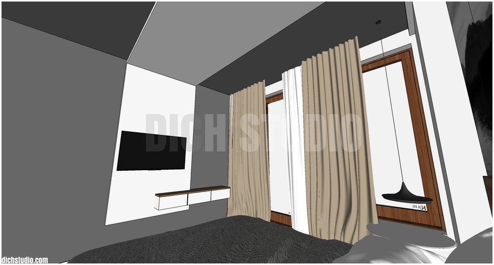 3d interior design in apartment Sofia