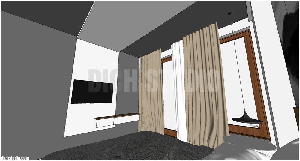 концептуален 3Д модел спалня интериор