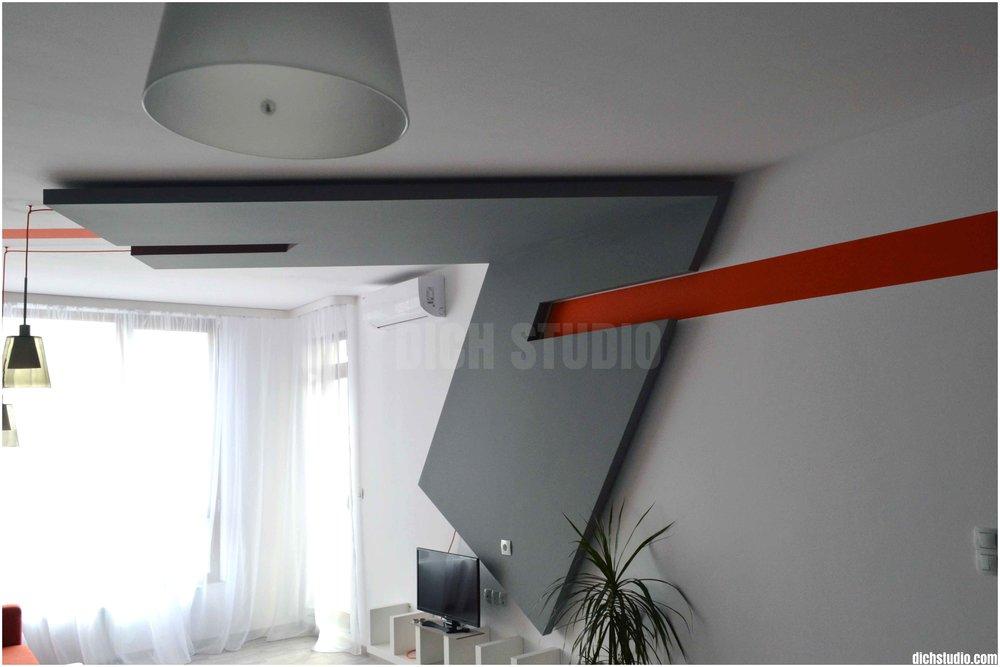 Окачен таван интериорен дизайн изпълнение