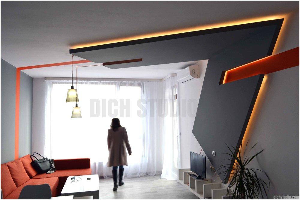 Осветление таван интериорен дизайн изпълнение