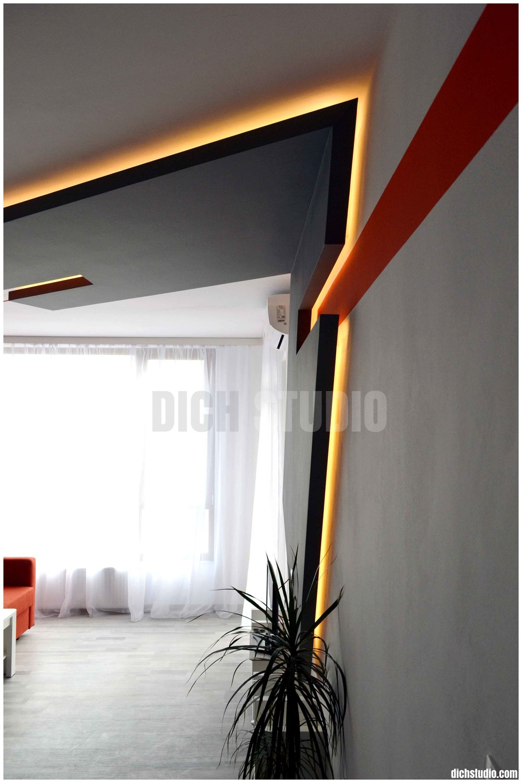 Фрагмент - окачен таван интериорен дизайн изпълнение
