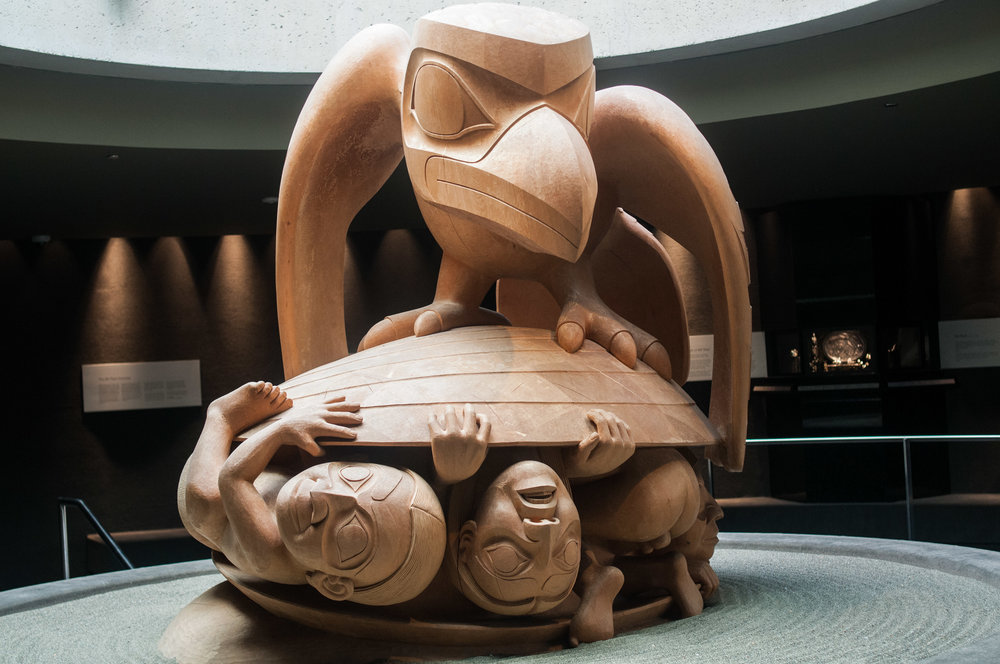 The Raven and the First Men  , sculpted by Bill Reid, University of British Columbia Museum of Anthropology.