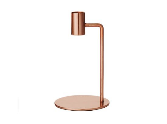 Single copper candelstick