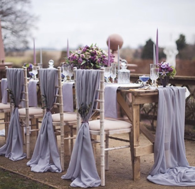 Chair and table chiffon