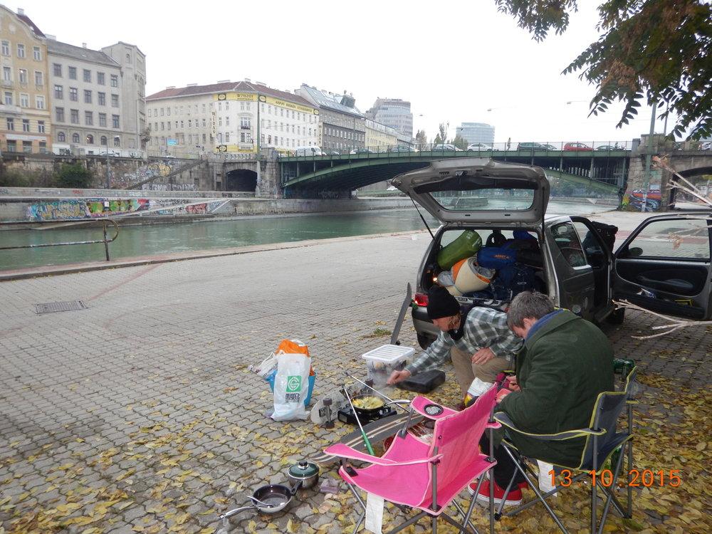Riverside cook up in Vienna