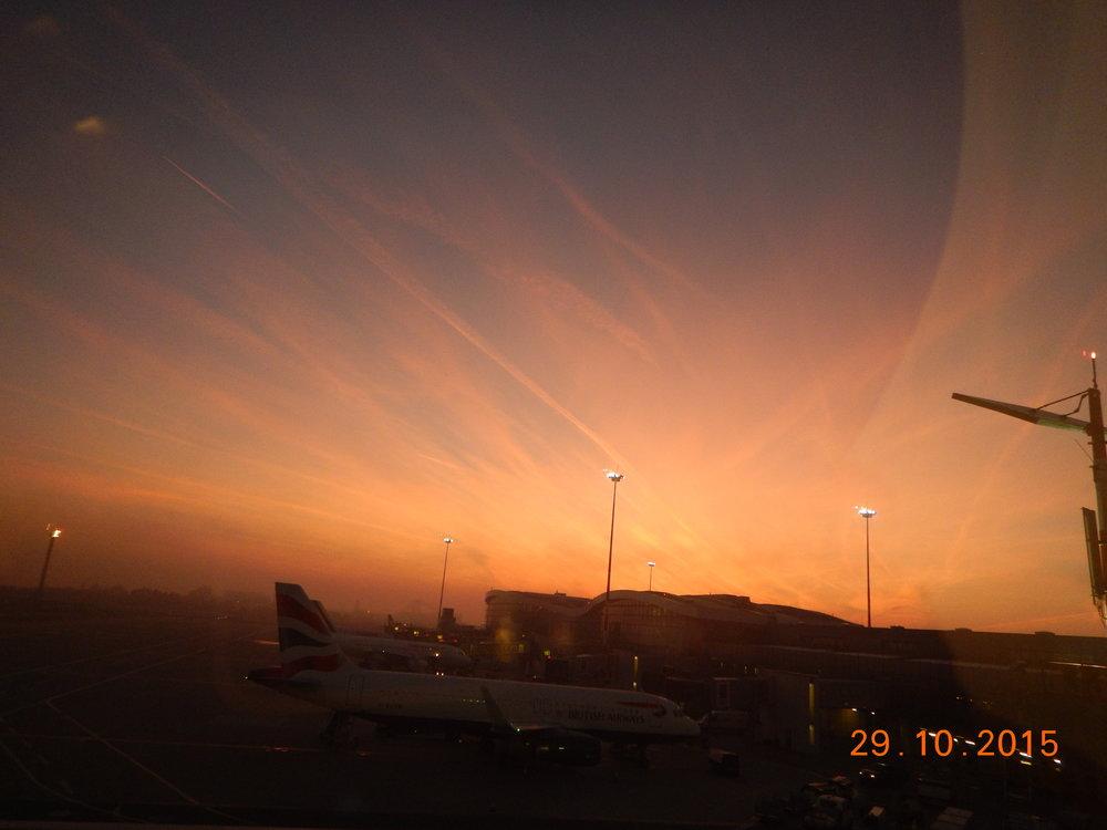 Sunrise at Bucharest airport