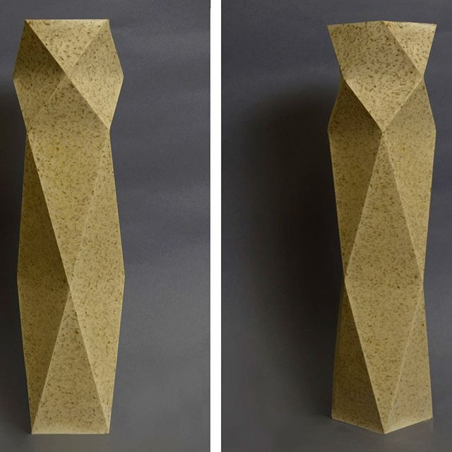 This elegant vase is part of Dust London's latest collection. Creating homeware from tea waste.