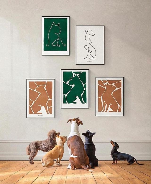 Personalised artwork for dog owners - I know what my sister is getting for her birthday now @dogmade.artwork