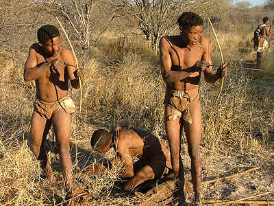 Khoisan-mannen.