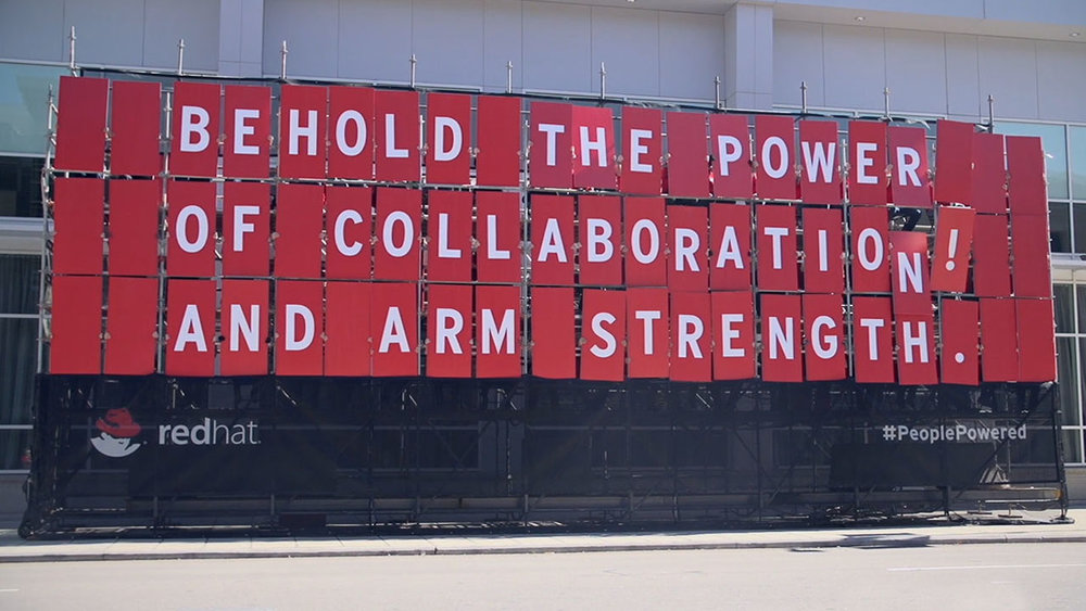 RED HAT – PEOPLE POWERED BILLBOARD