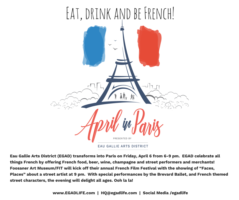 FRIDAY APRIL 6: EAT DRINK AND BE FRENCH ON HIGHLAND AVE FROM 6-9 PM