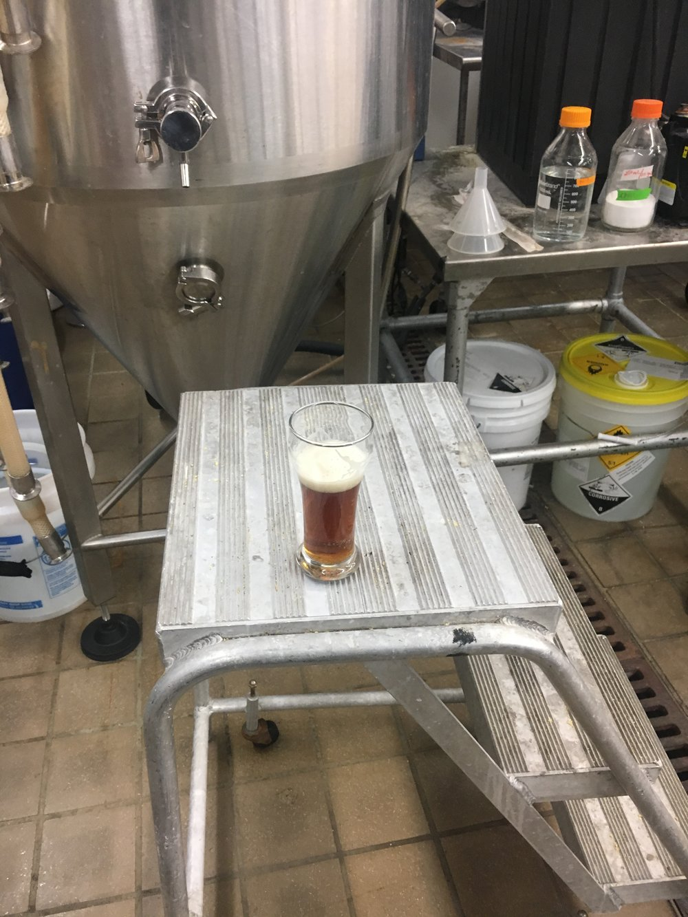 Beer in the berwing lab.