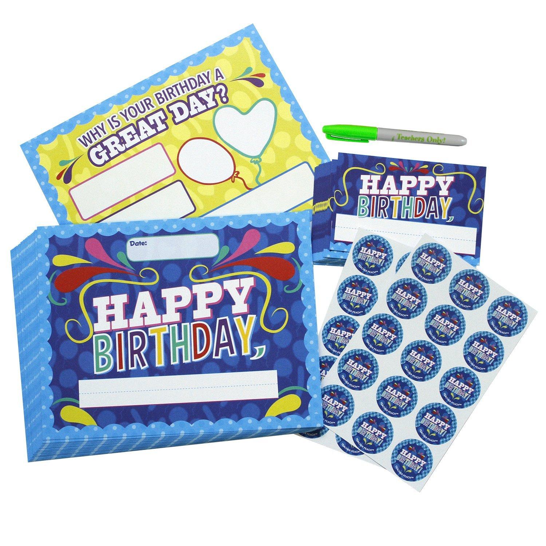 Happy Birthday Kit Happy Birthday Certificate Teacher Peach