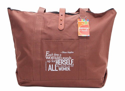 ac75453244be Utility Tote Bag with Inspirational Maya Angelou Quote, Unique Heartfelt  Gift for Women ...