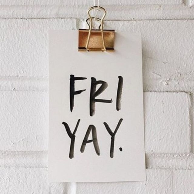 The weekend is here! #fridayfeeling