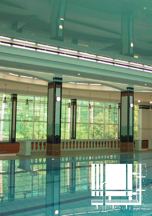 Three examples of Newmat in pool areas.