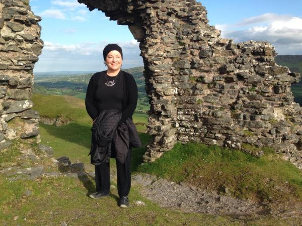Annette Velarde on assignment in Wales