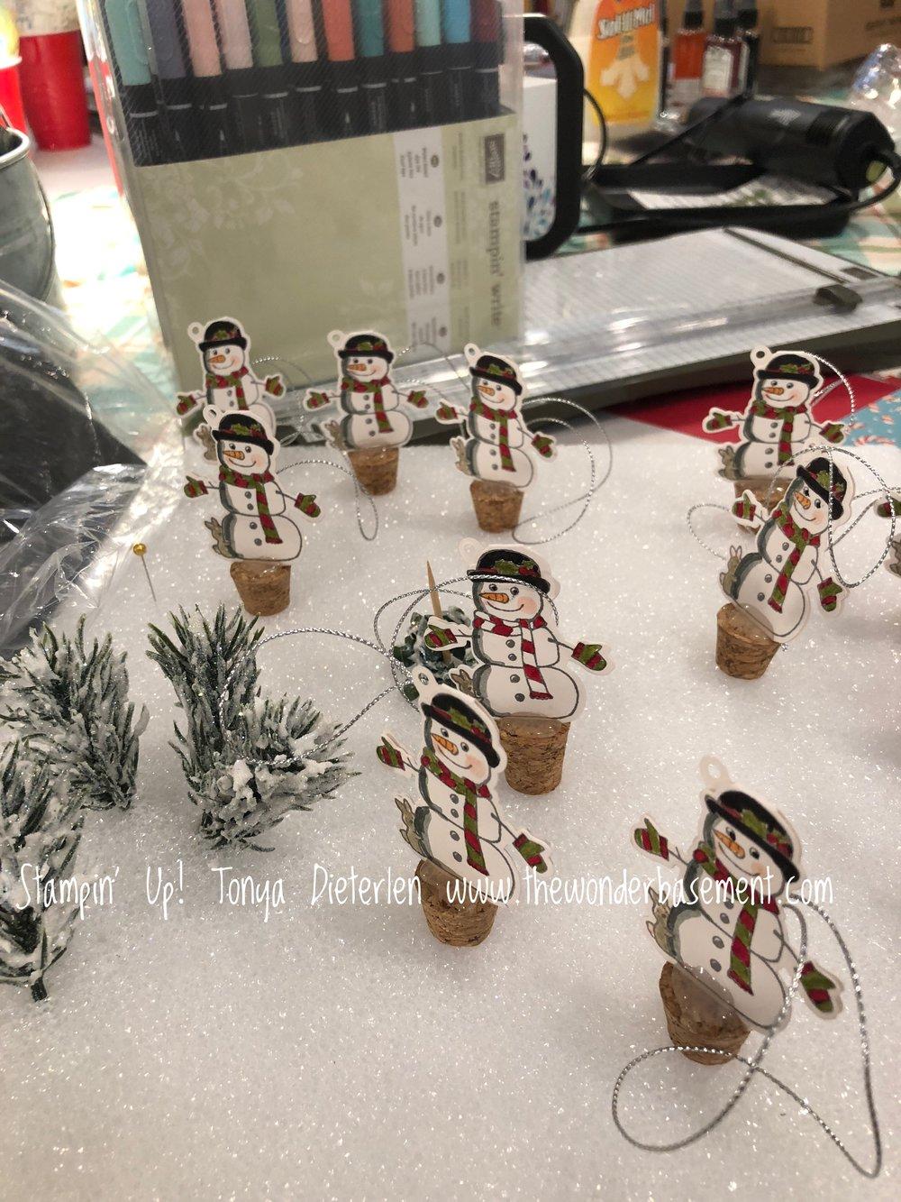 snow man cork tops