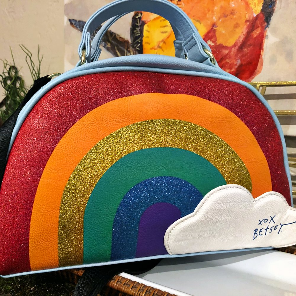 I think... - I will enjoy my rainbow week! Isn't this the most adorable lunch bag?! From Betsey Johnson, I found it at TJ Maxx. Happy, happy, happy!