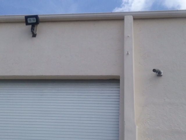 Coral Springs Storage LED Ligths U0026 Security Camera On Outside Wall