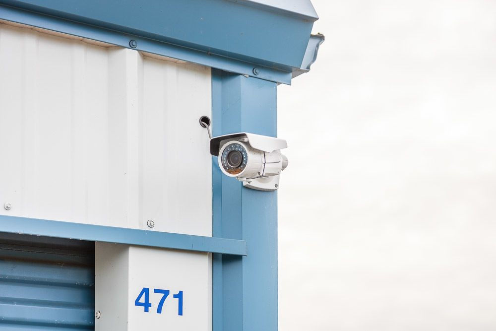 Coral Springs Storage Security Cameras On Wall