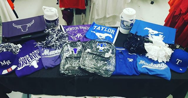 Football season is here!! Come by Brammer's and grab your spirit wear just in time for the upcoming pep rally for Morton Ranch and Taylor High Schools Wednesday the 22nd! • • • •  #brammers #brammersathleticwearhouse #brammersathletic #brammerskaty #screenprinting #screenprint #embroidery #heatpress #heatpressvinyl #vinyl #cadcut #athleticwear #sportsequipment