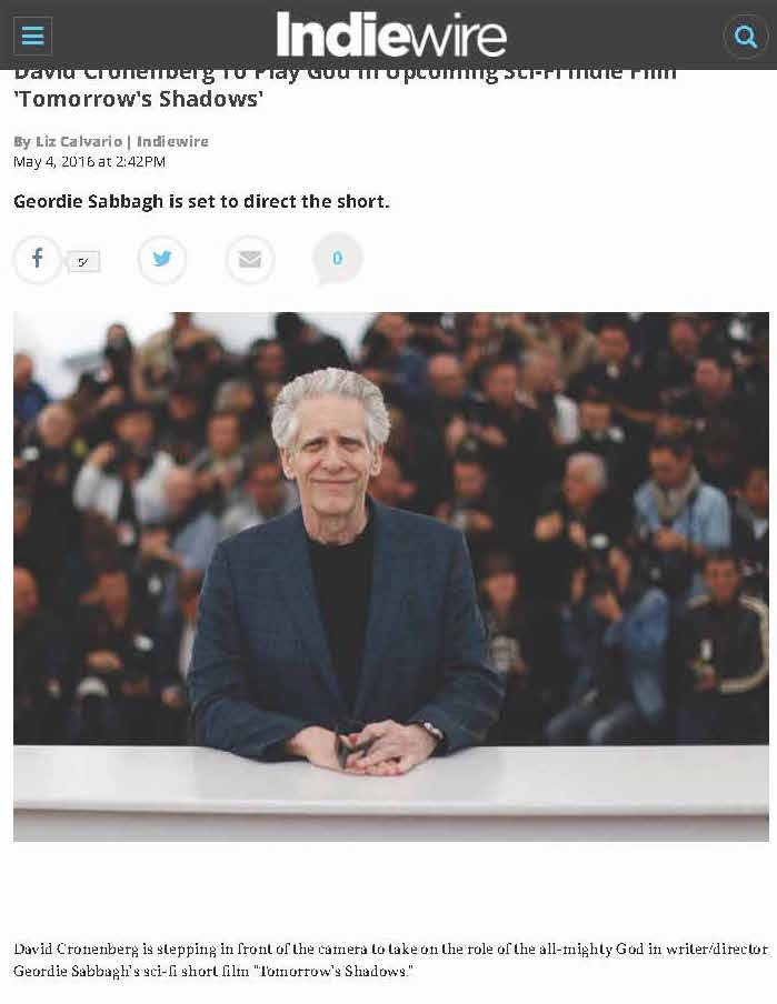 David Cronenberg To Play God in Sci-Fi Indie Tomorrow's S _ Indiewire_Page_1.jpg