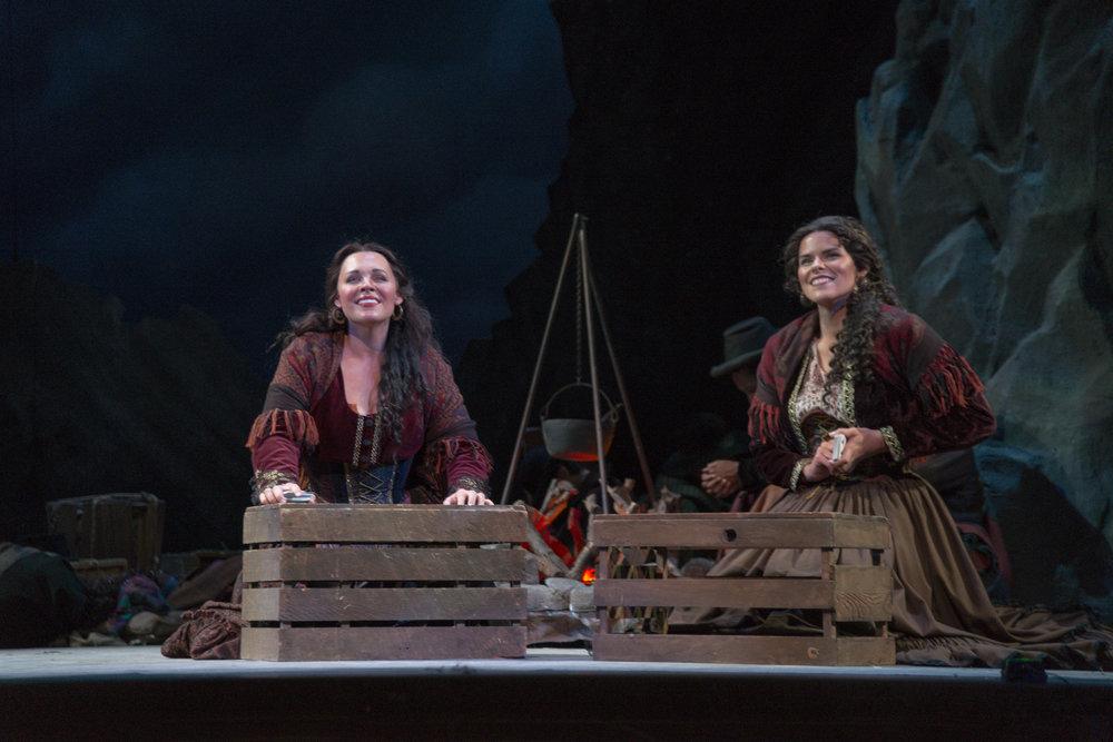 Davidson (Right) as Frasquita in Sarasota Opera's performance of 'Carmen'.
