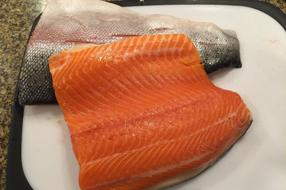 I used Ruby Trout filets from Costco.